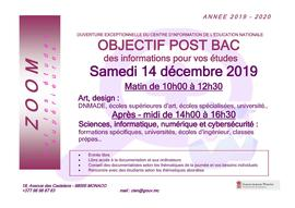Affiche zoom 2019 art / sciences informatique